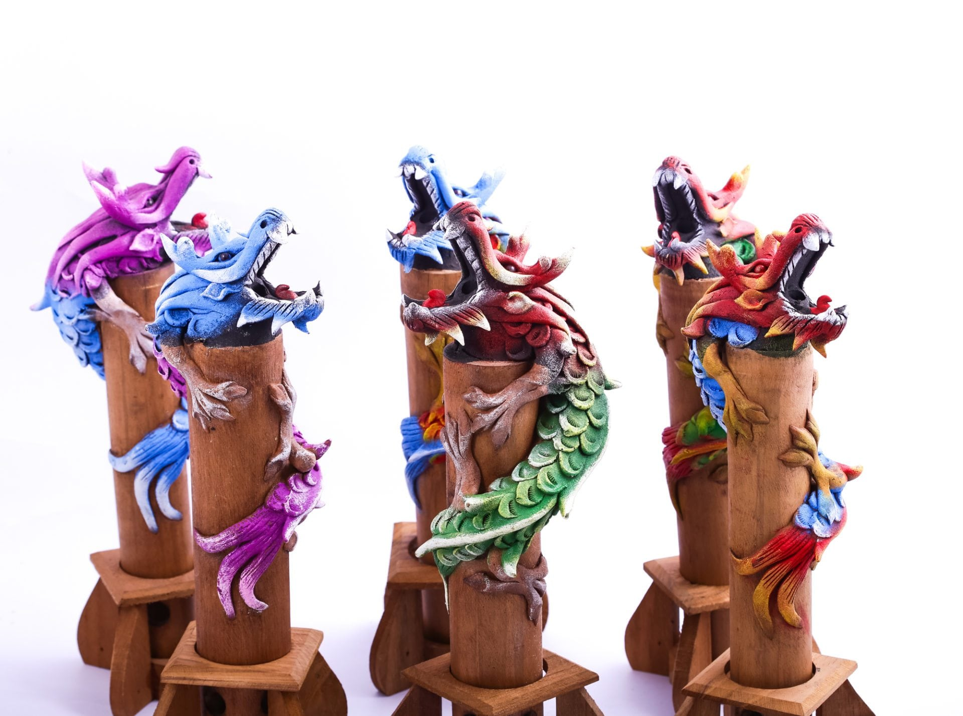 Sawdust Dragon Figurines