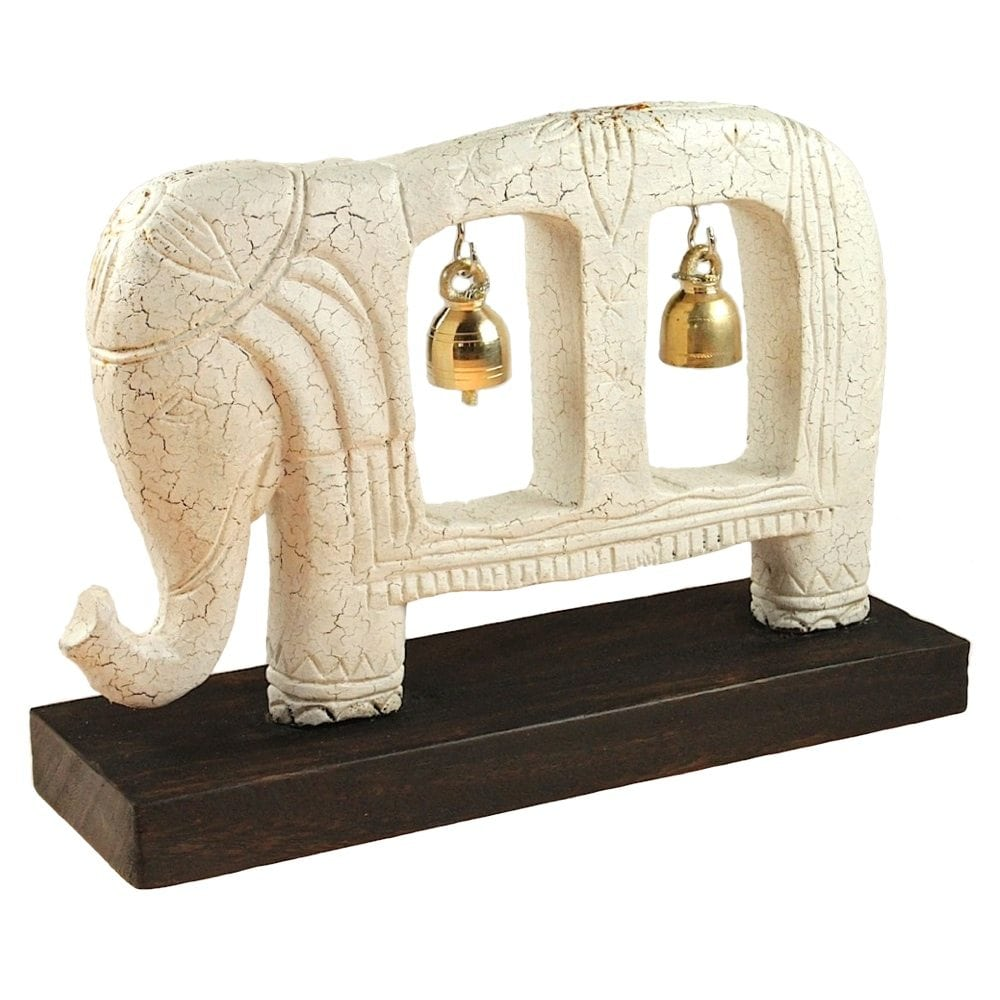 Elephant Carving on Stands & Teak Panel