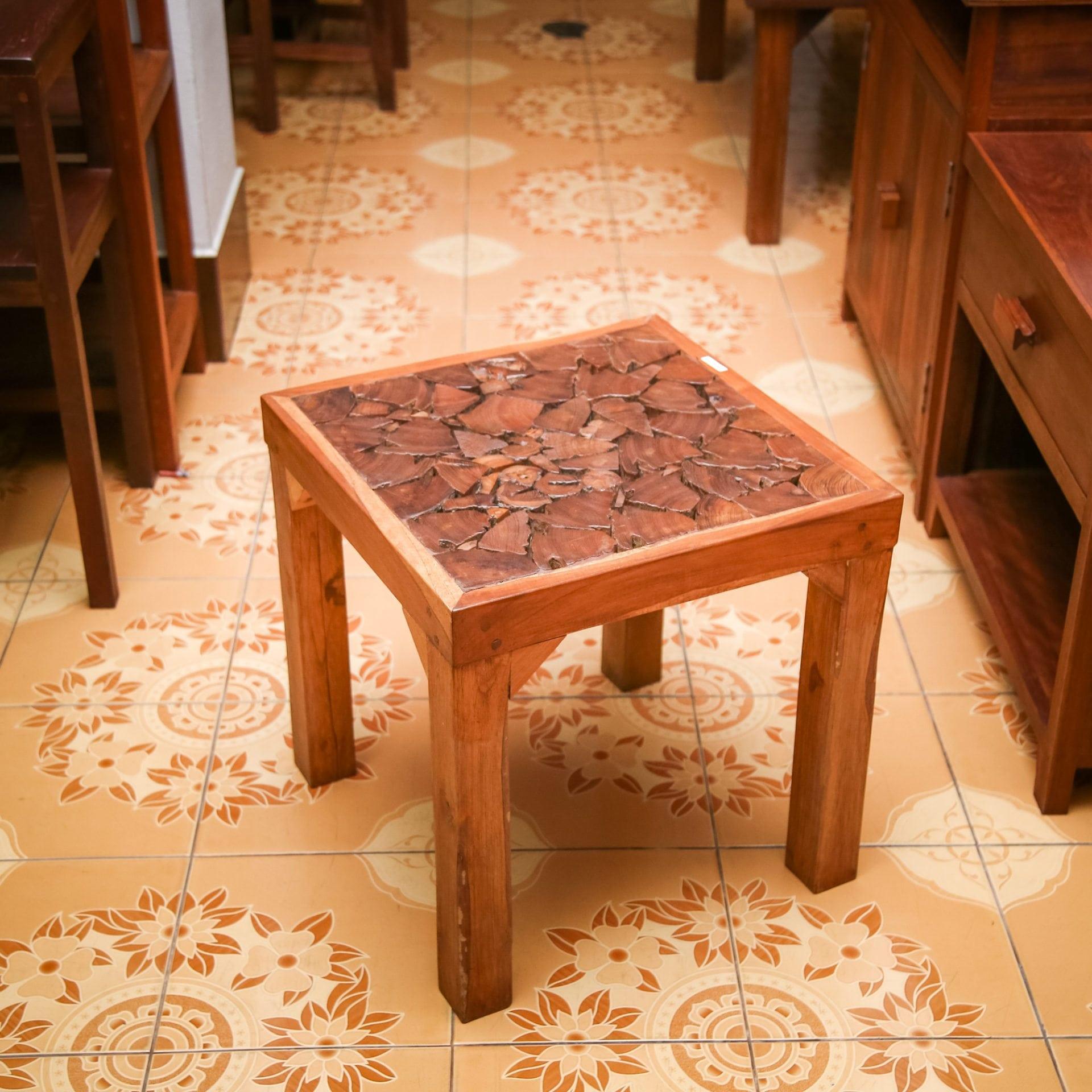 Large Vintage Monkey Pod Wood Slab Coffee Table: Coffee Table PN 001