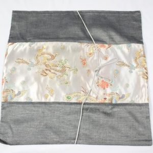 Thai cushion cover in gray color with dragon pattern