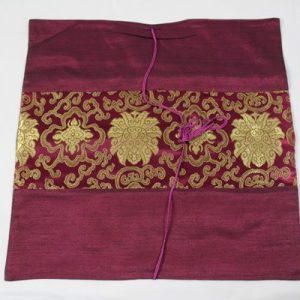 Thai cushion cover in violet color with thai painting design