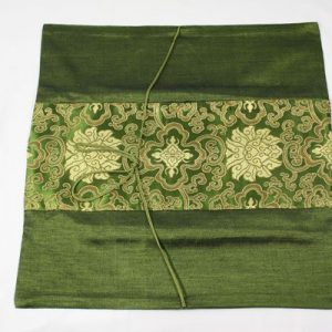 Thai cushion cover in green color with thai painting design