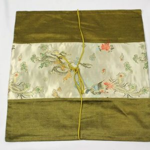 Thai cushion cover in green color with dragon pattern