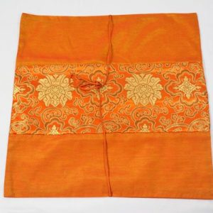Thai cushion cover in orange color with thai painting design