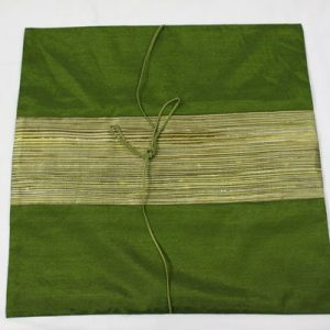 Thai cushion cover in green color with green stripes