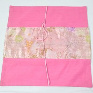 Thai cushion cover in pink color with floral design