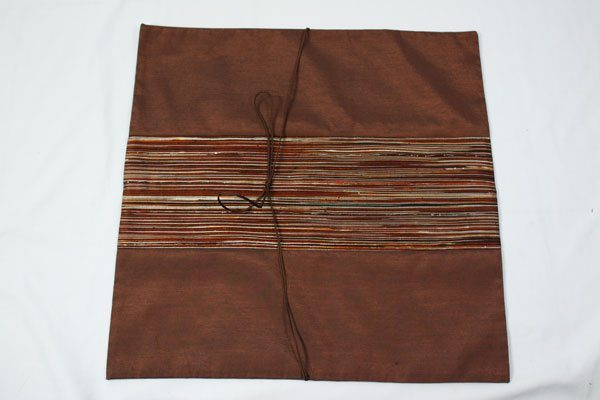 Thai cushion cover in brown color with brown stripes