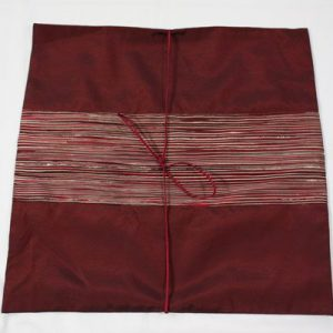 Thai cushion cover in carmine color with red stripes