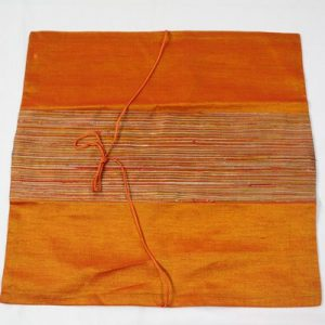Thai cushion cover in orange color with orange stripes