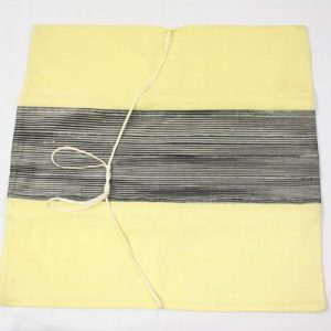 Thai cushion cover in yellow color with black stripes