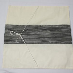 Thai cushion cover in white color with black stripes