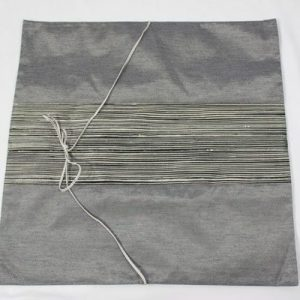 Thai cushion cover in gray color with gray stripes