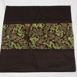 Thai cushion cover in brown color with floral pattern
