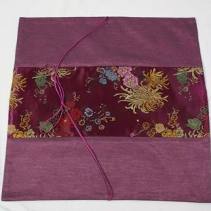 Thai pillow cover in purple color with floral design