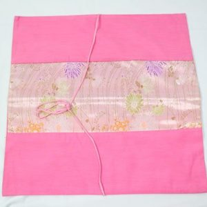 Thai pillow cover in pink color with flower pattern