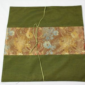Thai pillow cover in green color with flower pattern