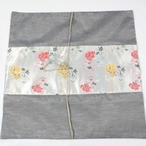 Thai cushion cover in grey color with floral design