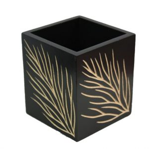 Mango Wood Box with leaf design