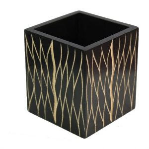 Thailand handicrafts Wholesale Mango Wood Box with leaf design
