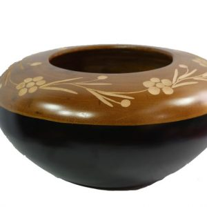 Chiang Mai handicrafts Wholesale Mango Wood Round Candle Holder with
