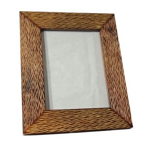 Mango Wood Photo Frame with thai pattern