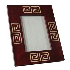 Mango Wood Photo Frame with maze design