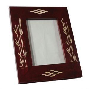 Mango Wood Photo Frame with Leaf design
