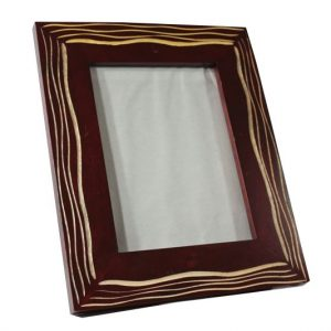 Mango Wood Photo Frame with lined pattern
