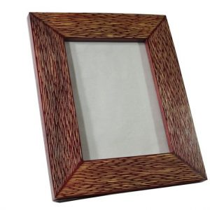 Mango Wood Photo Frame with lined design