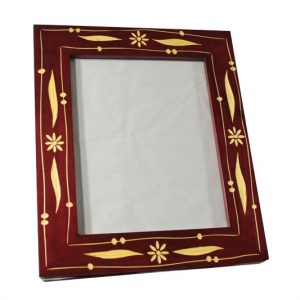 Mango Wood Photo Frame with flower design