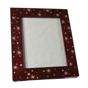 Mango Wood Photo Frame with star pattern