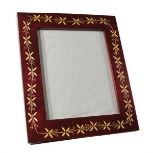 Mango Wood Photo Frame with floral design