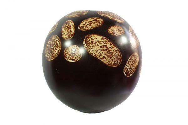 Thailand Handicrafts Wholesale Mango Wood Round Candle Holder with spots design