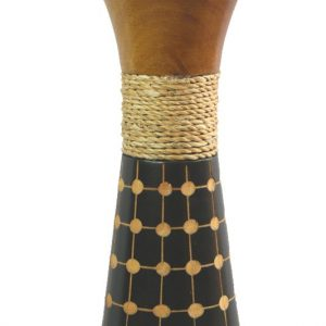 Mango Wood Medium Vase with spots design