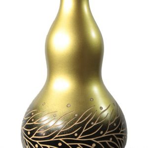 Thailand handicrafts Wholesale Large Mango Wood Vase with leaf design
