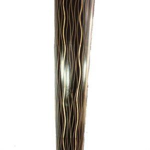 Large Mango Wood Vase with stripes pattern