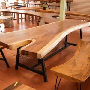 Thailand handicrafts Wholesale Suar wood large Bench and Dinning Table