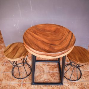 Suar wood Coffee Table and Chairs