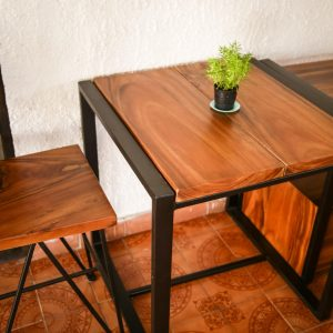Thailand handicrafts Wholesale Suar wood Coffee Table and Chairs
