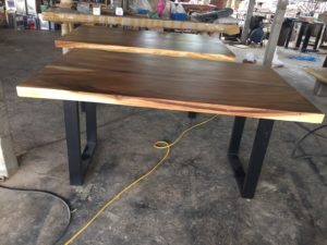 Suar wood tables for wholesale display