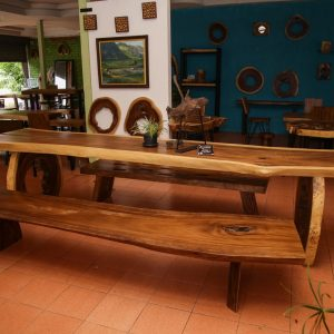 Chiang Mai handicrafts Wholesale Large suar wood dinning table and bench