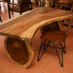 suar wood dining table and chair