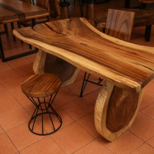 Suar wood stool and dinning table
