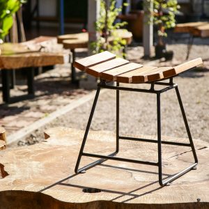 Thailand handicarft wholesale Suar wood stool