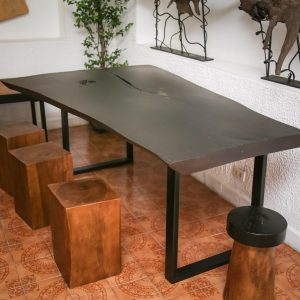 Thailand handicarft wholesale suar wood table and stools
