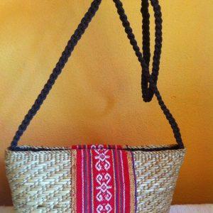Thailand handicrafts Wholesale Bamboo Handbag with Thai definition design