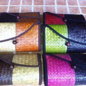 Thailand handicrafts Wholesale Wicker handbag with Thai definition design