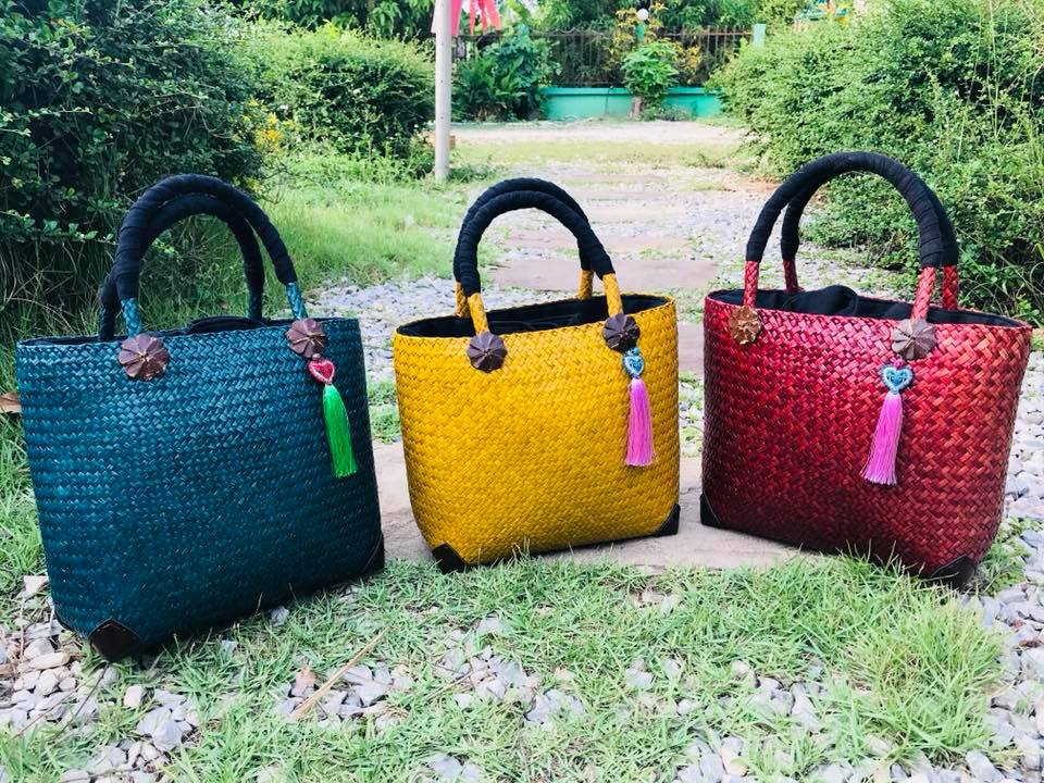Bamboo Handbag Monkeypod Asia