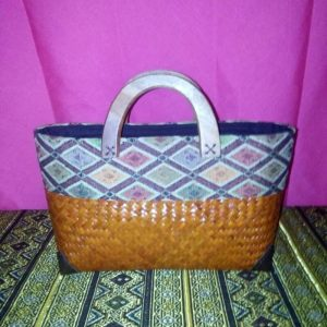 Brown wicker handbag wholesale