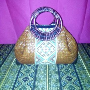 Wholesale wicker handbag with Thai pattern